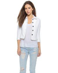 Diane von Furstenberg Martia Cropped Jacket - White - Lyst