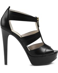 Michael Kors Berkley Platform Leather Sandal - Lyst