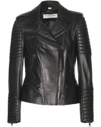 Burberry Nightingale Leather Biker Jacket - Lyst