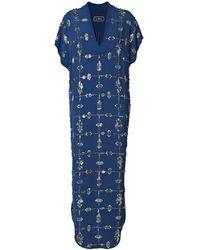 By Malene Birger Double Rhinestone Long Dress - Lyst