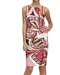 Emilio Pucci Dress Sleeveless Jersey With Flowers Power Print - Lyst