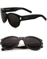 Saint Laurent 54Mm Round Sunglasses - Lyst