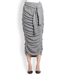 Band of Outsiders - Ruched Tiefront Sweater Skirt - Lyst