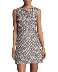 Diane Von Furstenberg Yvette Tweed Sleeveless Dress - Lyst