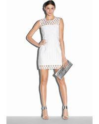 Milly Illusion Filament Jacquard Seamed Shiftdress white - Lyst