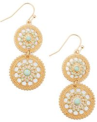 Ana Accessories Inc Shine Is Of The Essence Earrings in Mint - Lyst