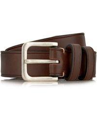 TOPMAN - Brown Leather Look Belt - Lyst
