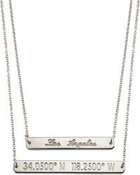 Coordinates Collection - Silvertone Layered Equator Pendant Necklace - Lyst