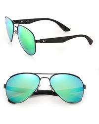 Ray-Ban | 59mm Highstreet Aviator Sunglasses | Lyst