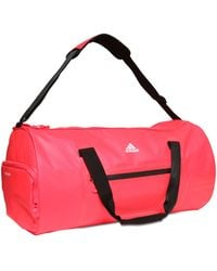adidas Originals Water Repellent Coated Nylon Duffle Bag - Red