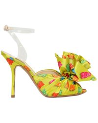Moschino 100Mm Gummy Bear Couture Satin Sandals - Lyst