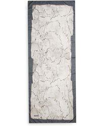Halston Heritage Gray Printed Scarfgrey - Lyst