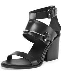Balenciaga Metal-bar Leather Sandal - Lyst
