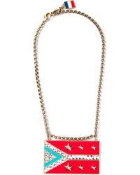 Lanvin 'Calvi' Flag Necklace - Lyst