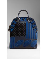 Burberry The Bloomsbury in Velvet and Leather - Lyst