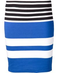 T By Alexander Wang Striped Fitted Skirt - Lyst