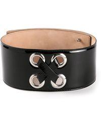 Alexander McQueen Glossy Belt - Lyst