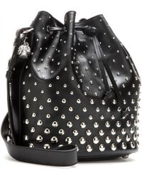 Alexander McQueen - Padlock Studded Leather Tote - Lyst