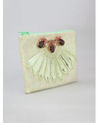 Mawi Glitter Embellished Clutch - Lyst
