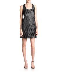 Shoshanna Kimberley Sequined Polka Dot Dress black - Lyst