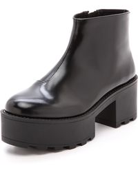 Cheap Monday Tractor High Booties  Black - Lyst