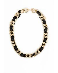 Missguided Xantho Ribbon Chain Necklace Black - Lyst