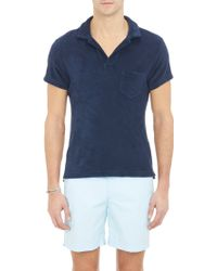Orlebar Brown Terry Polo Shirt - Lyst