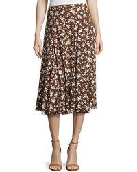 Michael Kors Floral-Print Dance Skirt floral - Lyst