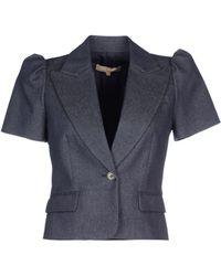 Michael Kors Denim Outerwear blue - Lyst