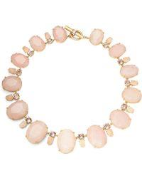 Lauren by Ralph Lauren - Rose Quartz And Swarovski Crystal Collar Necklace - Lyst