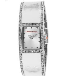 Christian Lacroix - Women's White Ceramic Silver Tone Dial Crystal Accents - Lyst