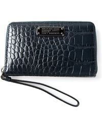 Marc By Marc Jacobs - 'New Q Croc Wingman' Wallet - Lyst