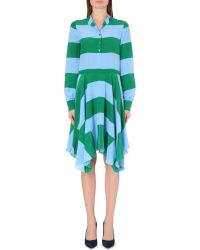 Stella McCartney Striped Silk Dress - Lyst