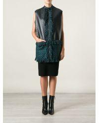 Lanvin Blue Sleeveless Jacket - Lyst