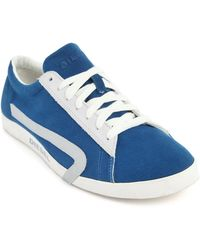 Diesel Rikklub Turquoise Canvas Sneakers blue - Lyst
