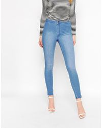 Warehouse - High Rise Turn Up Skinny Jean - Lyst