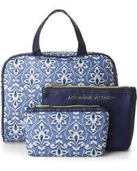 Adrienne Vittadini - Printed 3-Piece Cosmetic Bag Set - Lyst