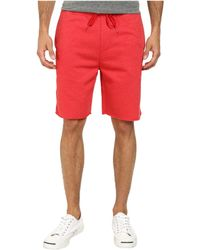 Converse Core Plus French Terry Short red - Lyst