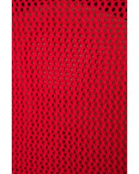 Pjk Patterson J. Kincaid Boxy Pointelle Pullover in Red