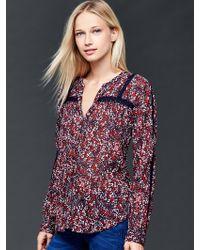 Gap | Crochet Print Blouse | Lyst