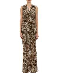 L'Agence Chiffon Leopardprint Gown - Lyst