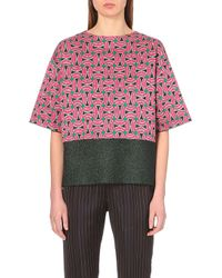 Dries Van Noten Bow-Print Knitted Top - For Women - Lyst