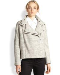 J Brand - Pallenberg Oversized Cotton & Wool Moto Jacket - Lyst