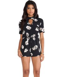 Oh My Love Black Keyhole Playsuit - Lyst