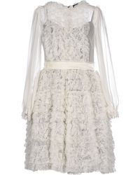 Dolce & Gabbana Short Dress white - Lyst