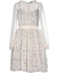 Dolce & Gabbana Short Dress white - Lyst
