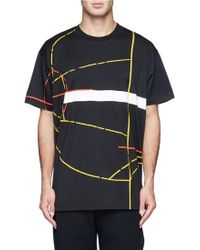 Givenchy Basketball Court Print Cotton Jersey T-Shirt - Lyst
