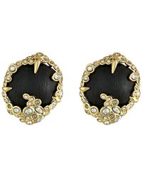 Alexis Bittar Crystal Lace Buttom Clip - Lyst