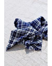 Urban Renewal Flannel Plaid Neckerchief - Blue