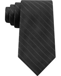 DKNY Matte Satin Stripe Slim Tie - Lyst